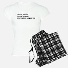 Punctuation Saves Lives Pajamas