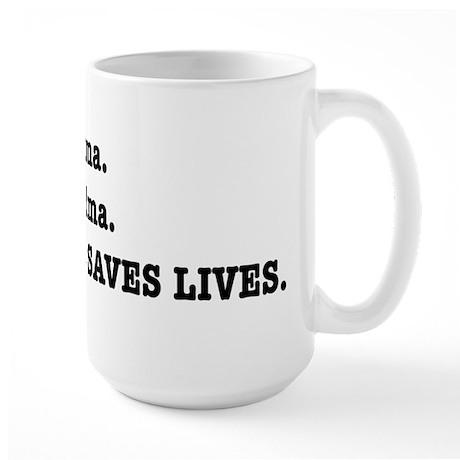 Punctuation Saves Lives Large Mug