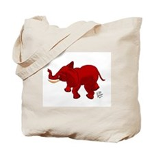 Red Elephant Tote Bag
