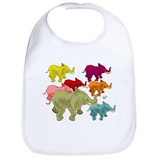 Elephant Herd Bib