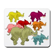 Elephant Herd Mousepad