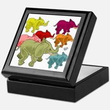 Elephant Herd Keepsake Box