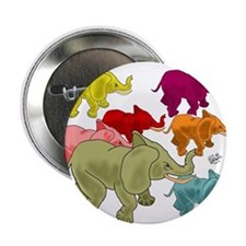 "Elephant Herd 2.25"" Button"