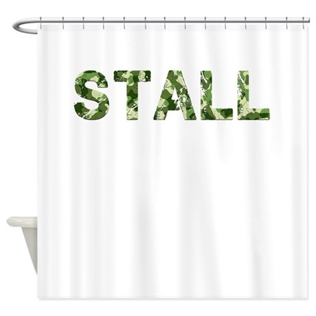 Stall Vintage Camo Shower Curtain By Thecafemarket