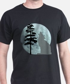 Gray Wolf Moon T-Shirt T-Shirt