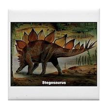 Stegosaurus Dinosaur Tile Coaster