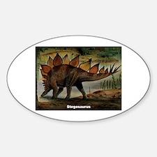 Stegosaurus Dinosaur Oval Decal