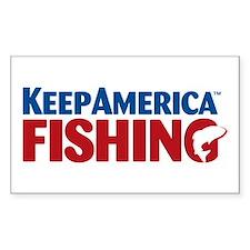 KeepAmericaFishing Sticker (Rectangle)