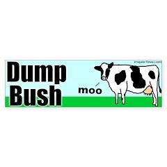 Dump Bush Moo Cow Bumper Sticker