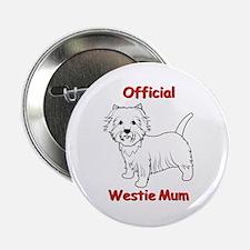 """Westie Mum 2.25"""" Button"""