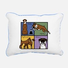 Boxer Four SquareT.png Rectangular Canvas Pillow