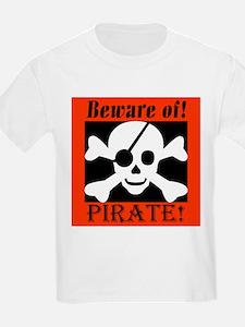 Beware of Pirate Kids T-Shirt