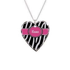 Pink Zebra Personalized Necklace