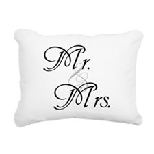 Cute Mr mrs Rectangular Canvas Pillow
