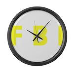 FBI 2 Large Wall Clock