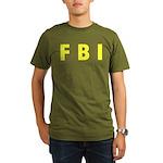 FBI 2 Organic Men's T-Shirt (dark)