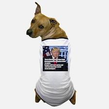 President Trump Stock Market Quote Meme Dog T-Shir