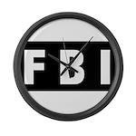 FBI 1 Large Wall Clock
