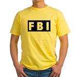 FBI 1 Yellow T-Shirt