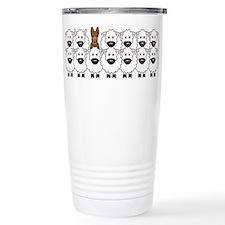 Unique Dog illustration Travel Mug