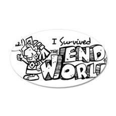 SurviedMayan2012-Dark 35x21 Oval Wall Decal