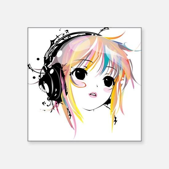 "yuki remix Square Sticker 3"" x 3"""