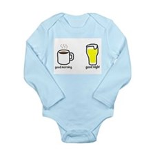 good morning and good night Long Sleeve Infant Bod