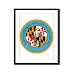 Maryland Army and Air NG Framed Panel Print