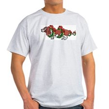 Basset in Wreaths Ash Grey T-Shirt