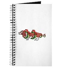 Basset in Wreaths Journal