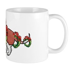Basset in Wreaths Mug