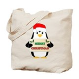 Penguin christmas Canvas Tote Bag
