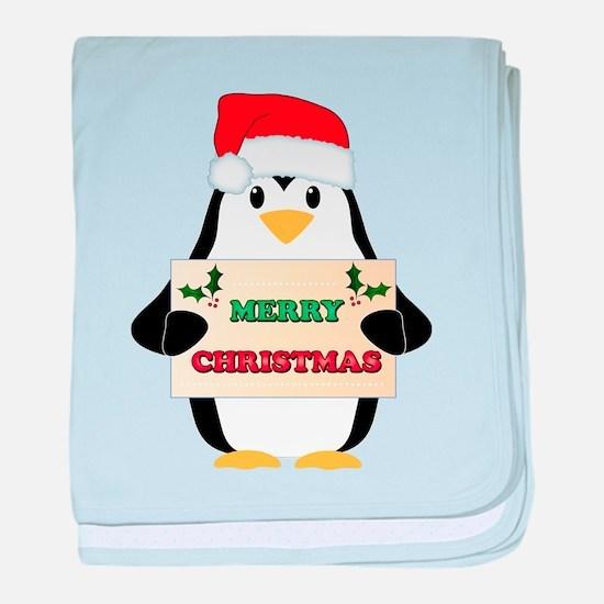Christmas Penguin baby blanket