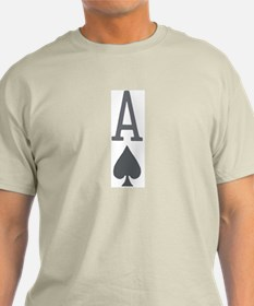 Ace of Spades Poker Clothing Ash Grey T-Shirt