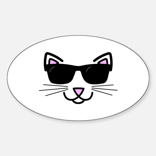 Cool Cat Wearing Sunglasses Decal