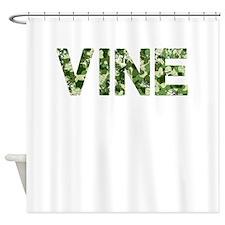 Vine, Vintage Camo, Shower Curtain