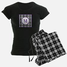 Diamond Purple Monogram Pajamas
