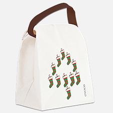 OYOOS Xmas Stocking design Canvas Lunch Bag