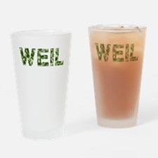 Weil, Vintage Camo, Drinking Glass