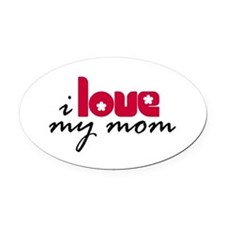 My Mom Oval Car Magnet