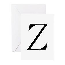 Greek Character Zeta Greeting Cards (Pk of 10)