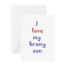 Brony Son Greeting Card