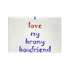 Brony Boyfriend Rectangle Magnet