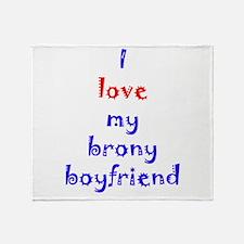 Brony Boyfriend Throw Blanket