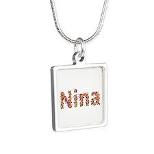 Nina Fiesta Silver Square Necklace