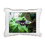 Black Butterfly Rectangular Canvas Pillow