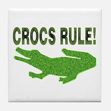 Crocs Rule Tile Coaster