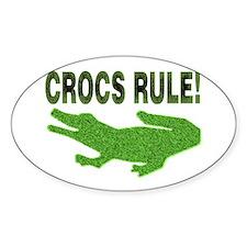 Crocs Rule Oval Stickers
