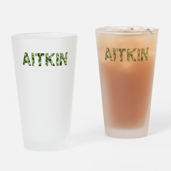 Aitkin, Vintage Camo, Drinking Glass