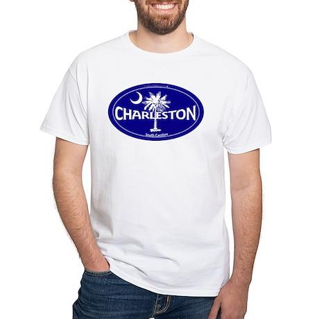 Charleston South Carolina Clear White T-Shirt